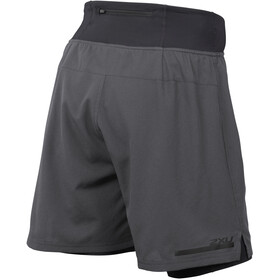"2XU Run 2 In 1 - Pantalones cortos running Hombre - 7"" gris/negro"